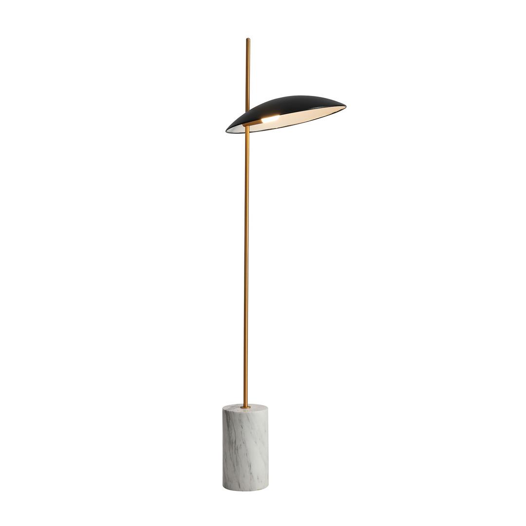 Čierna podlahová lampa Vilai LED