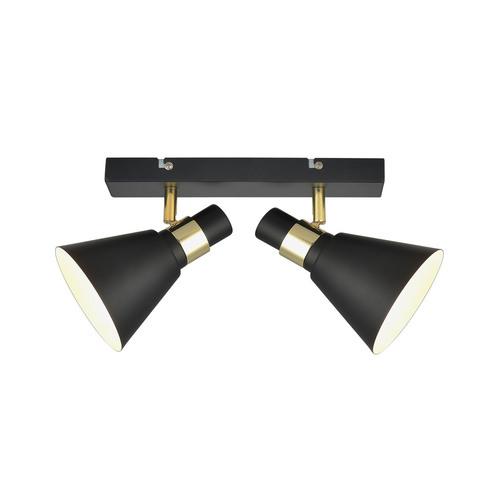 Čierne nástenné svietidlo Biagio E14 s 2 žiarovkami