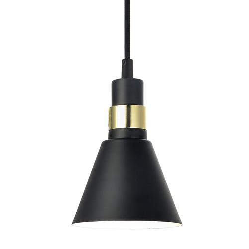 Čierna závesná lampa Biagio E14
