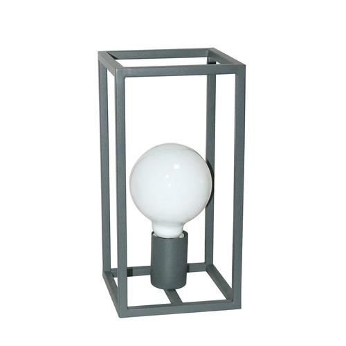 Šedá stolová lampa Sigalo E27