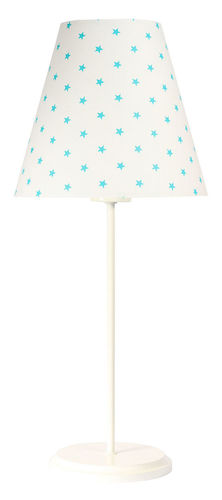 Stolná lampa s tienidlom Ombrello 60W E27 50cm biele hviezdy