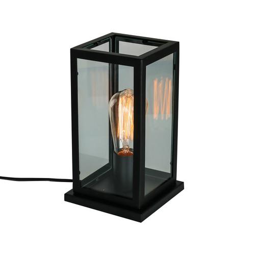 Čierna stolová lampa Laverno E27