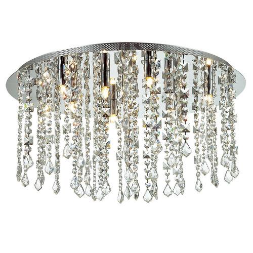 Klasická 12-bodová stropná lampa Shiraz G9 Crystals
