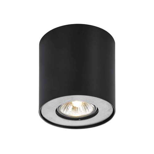 Čierna povrchová lampa Tamzo LED