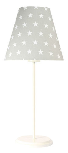Sivá stolná lampa Ombrello 60W E27 50cm hviezdy