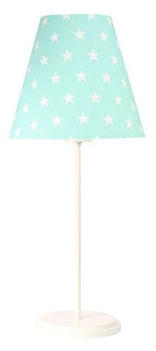 Stolná lampa mäta Ombrello 60W E27 50cm biele hviezdy