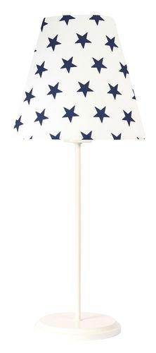 Stolná LED lampa Ombrello 60W E27 50cm tmavomodré hviezdy