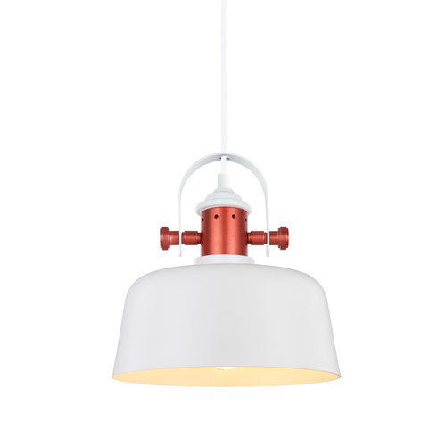 Biela závesná lampa Elysia E27