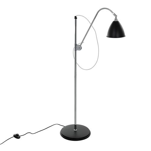 Čierna podlahová lampa Evato E14