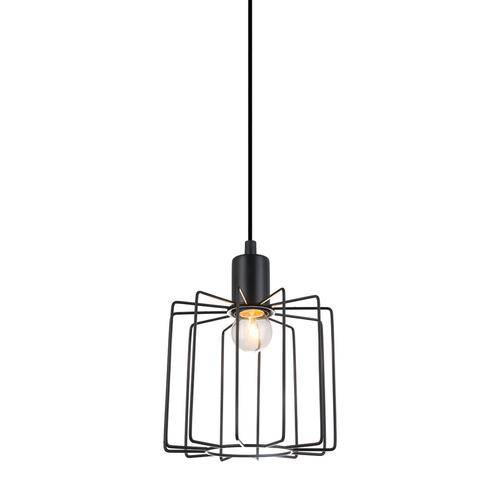 Čierna závesná lampa Gervais E27