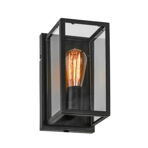 Čierne nástenné svietidlo Laverno E27