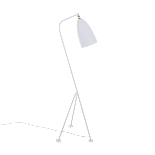 Biela podlahová lampa Levigne E27