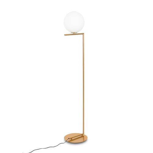 Mosadzná stojaca lampa Mondo E27