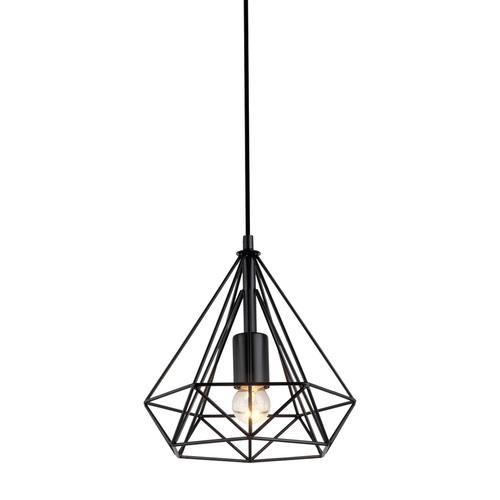 Čierna závesná lampa Natal E27