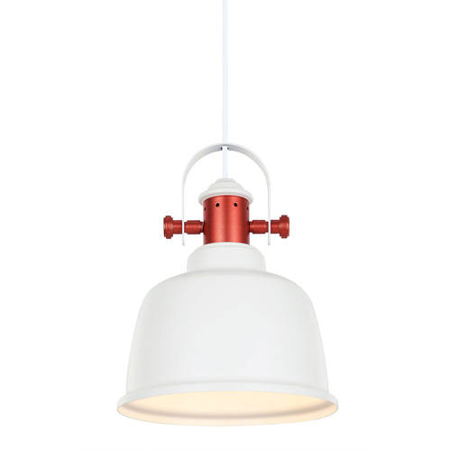 Biela závesná lampa Treppo E27