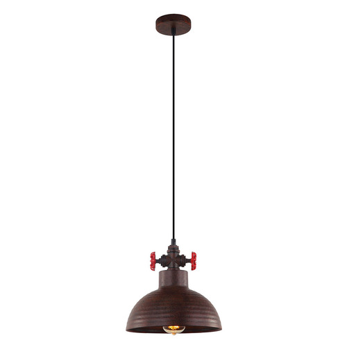 Medená závesná lampa Scrulo E27