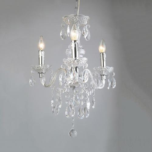 Klasický krištáľový luster Whiz E14 s 3 žiarovkami