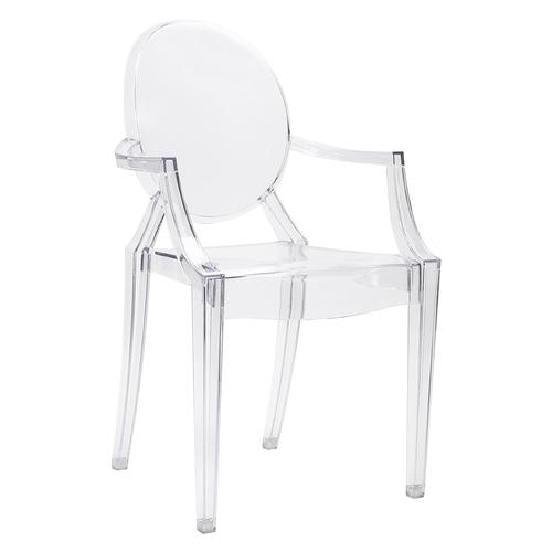 Transparentná stolička LOUIS - polykarbonát