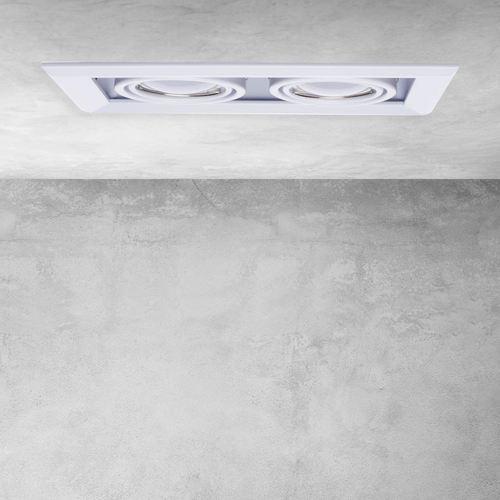Biele zapustené svietidlo Blocco biele 2x7 W GU10 LED