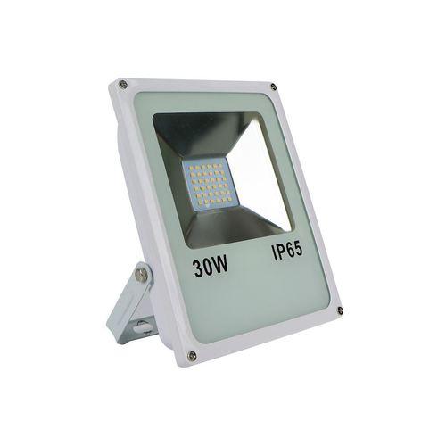 Biely LED svetlomet 30W IP65