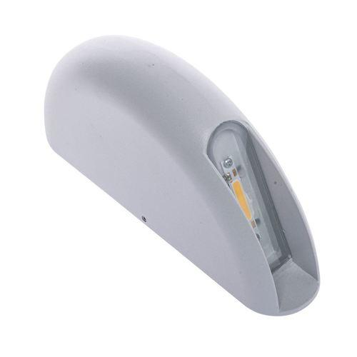 Biele nástenné 3 W LED svietidlo IP44