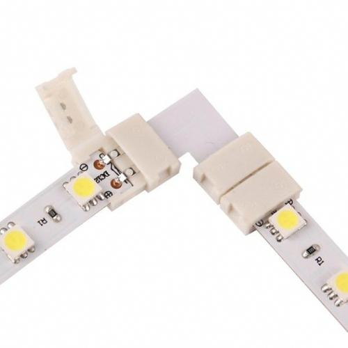 LED konektor 10mm. Tvar: L.