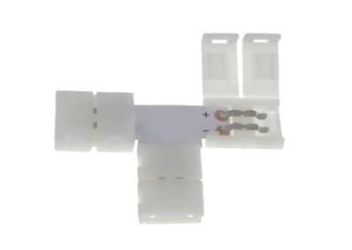 LED konektor 10mm. Tvar: T
