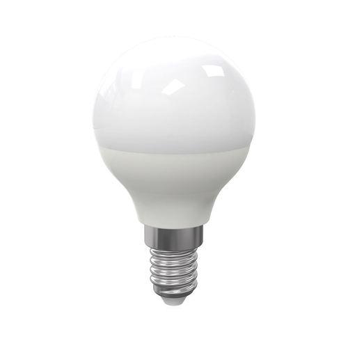 LED žiarovka 7 W E14 G45 guľová. Farba: studená